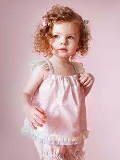 ピンクユニコーン(年齢1才、身長84cm、着用サイズ80cm)