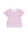 ピンクシンデレラ柄のパフスリーブTシャツです。