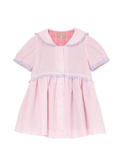 ピンク色のキッズワンピースです。