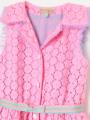アップ画像 - ピンク色キッズワンピース