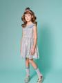 アイボリーパステルフラワー着用画像(年齢7才、身長129cm、着用サイズ130cm)