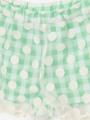 アップ画像 - グリーンドット柄ショートパンツ