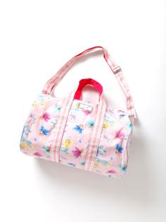 ピンクフェアリー柄のボストンバッグです。