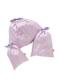 ピンクシンデレラ柄の巾着セットです。